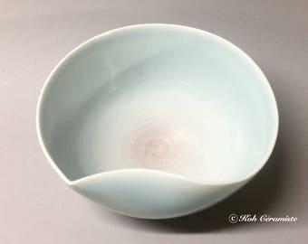 """Tear of the Moon"" Celadon porcelain bowl"