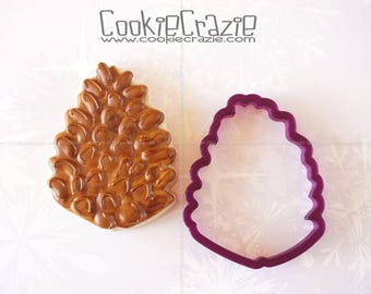 Pinecone or Pine Cone Cookie Cutter and Fondant Cutter and Clay Cutter