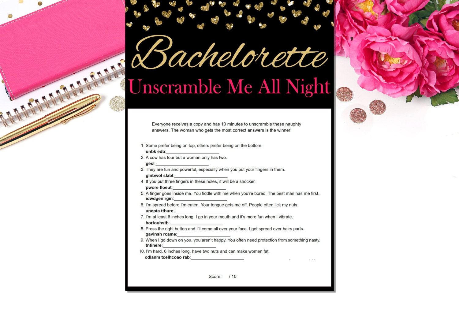 Naughty word scramble bachelorette party games zoom monicamarmolfo Image collections