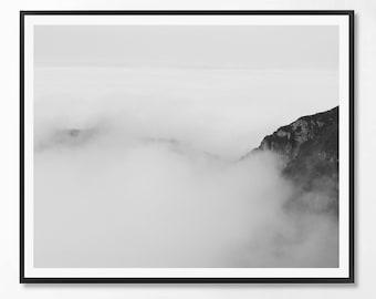 Landcape Print, Black and White Photography, Minimal photo, Minimalist, Wood Wall Art, Landscape Photo, Landcape, Scandinavian Printable Art