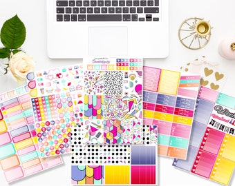 Bombdigity -  Kit semaine - 6/7 pages - Stickers agenda - Erin Condren - Plum Paper - Kikki K - Paperchase - Filofax