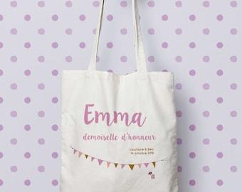 "Bag ""Bridesmaid"" Tote bag to customize, control, Tote, bag maid of honour, wedding, EVJF, gift bag"
