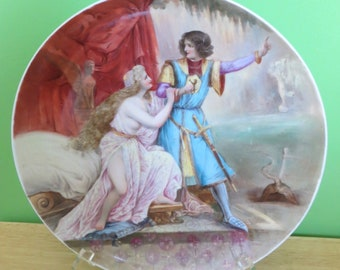 Antique Royal Vienna Hand Painted Porcelain Plate Signed W Plohl - Beehive Mark - Free Shipping