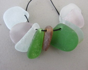 9 Pendant Sea Glass Supply, Necklace Sea Glass, Top Drilled Beach Glass, Bulk Seaglass, Genuine Sea Glass Jewelry Supply
