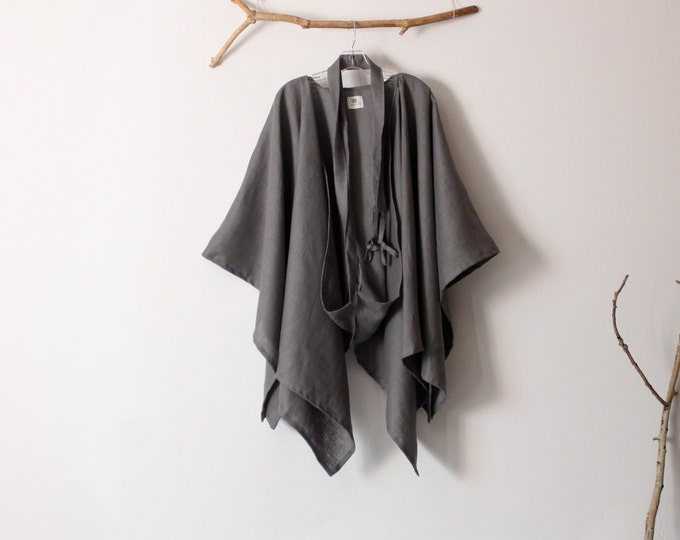 custom linen mysterious versatile wrap free size made to order listing / wrap style / linen free size / funky design