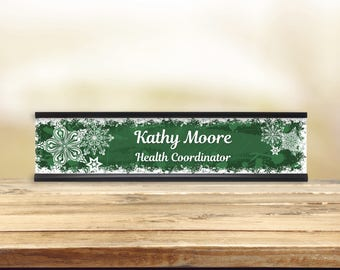 Colorful Flakes Desk Name Plate