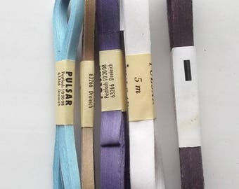 25 Ribbon WRAPPING BOLDUC 5 different art color paper 986