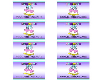 Custom Edible Image Business Cards