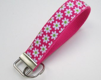 Flower Keychain for Women, Cool Lanyards for Women, Floral Keychain, Cute Wristlet Lanyard, Cute Key Fobs, Cute Keychains