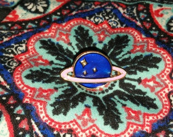 Cute Planet Mini Pin, Choice of Colors