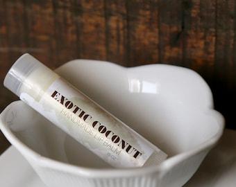 Coconut Cream Lip Balm, Chapstick, Lip Moisturizer, Handmade in Alaska, Lip Gloss, Gift for Her, Gift for Him, Valentine's Day Gift