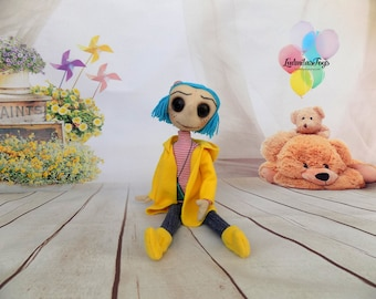 Coraline doll Coraline Coraline Seeing Stone Looking Stone Amulet Coraline Necklace