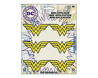 Wonder Woman Iron On Patch, Wonder Woman Patch, WonderWoman Applique, Genuine DC Comics Iron On Applique, Superhero Applique