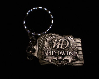 FANTASTIC harley davidson keychain made of pewter VERY DETAILED