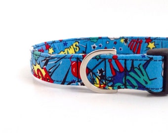 Superhero Dog Collar | Dog Collar | Boy Dog Collar | Large Dog Collar | Male Dog Collar | Small Dog Collar | Puppy Collar