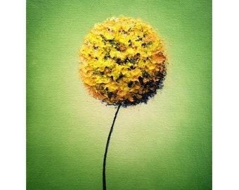 Gold Flower Art Poster, Abstract Flower Print, Photo Print of Yellow Floral Art, Contemporary Art, Archival Photograph of Golden Dandelion