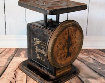 Vintage Black Kitchen Scale - 1902 - American Cutlery Co- Chicago US - Farmhouse Decor -  Kitchen Prop - Rustic Style - Fixer Upper style
