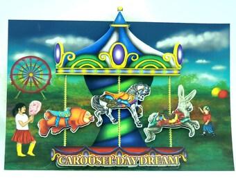 Four Theme Set Of Peel 'N' Stick Kiss Cut Carousel Stickers