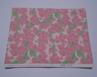 Quiltsy Destash Party, Hello Betty Moda  Cotton Fabric, Pink and Green Quilting Fabric, 1 1/2 yards, Pink and Green Floral Quilting Fabric