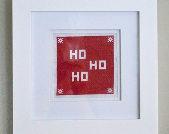Ho Ho Ho Cross-stitch PATTERN ONLY