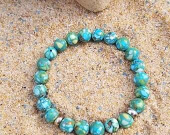Reconstituted Semi-precious Bracelet