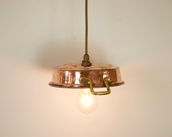 Copper Egg Poacher Hanging Light