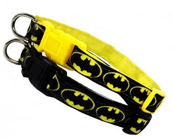 BATMAN inspired 3/8 inch wide breakaway cat collar