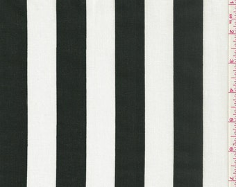 """60"""" Black/White Stripe Print Fabric-15 Yards Wholesale By the Bolt (FP629-C1)"""