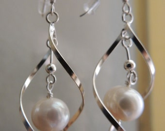 Sterling Silver, Fresh Water Pearls, Earrings , Easter Gift, Mothers Day Gift