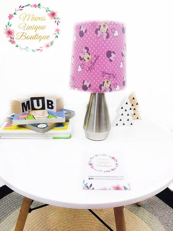 Minnie mouse table lamp night light touch lamp ceramic switch aloadofball Image collections