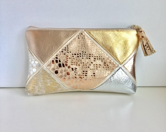 Kaleidoscope Makeup Bag- Champagne