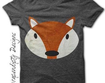 Fox Iron on Shirt PDF - Animal Iron on Transfer / Red Fox Shirt / Red Fox Print / Child Decor Fox Print / Fox Baby Clothes / Digital IT22