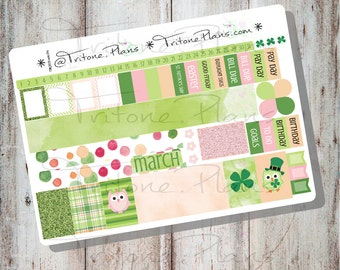 Hello, Spring    March Monthly Sticker Kit for SewMuchCrafting Personal size inserts