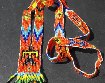 Woven seed beads CL.0751 Indian necklace