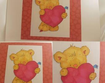I love you - card Teddy