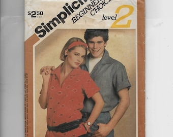 Simplicity Misses' and Men's Pullover Top Pattern 6512