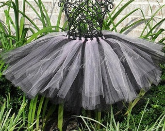 Pink & Black Tutu/Tulle Skirt/Skirt/Costume/Festival Clothing/Birthday Gift/Halloween/Ballet Skirt/Tutu Skirt/Tulle Skirt Women/Bridal Skirt