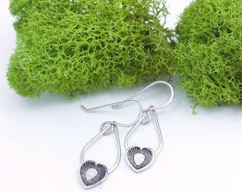 simple earrings | heart earrings | bohemian jewelry | teardrop earrings | minimal earrings | minimalist jewelry | small earrings | hearts