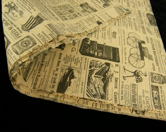 Tissue Paper - Newsprint Vintage Inspired Newspaper Tissue Sheets - Old Time Theme Gift Wrapping Paper - 12 sheets - Pattern Tissue paper