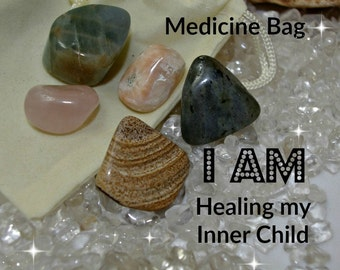 Accepted Crystal Medicine Bag I AM Healing My Inner Child
