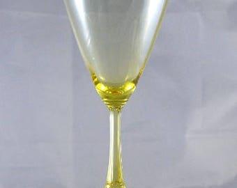 Heisey Wine Glass Duquesne No.3389 Stem1pc Sahara Yellow Glass