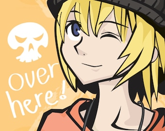 Over here! TWEWY 11x17 Rhyme (Tabloid) print