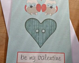 Greeting card - Be my Valentine - 15cm x 21cm