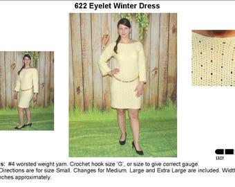 Eyelet Crochet Dress Pattern   622
