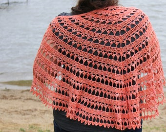 Phoenix Rising Shawl - PDF Download Crochet Pattern
