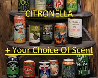 SCENT OPTIONS! Citronella Beer Candles / Bug Repellent Candles / Upcycled Beer Bottle Candles / Summer Candles / Outdoor Candles / Summer