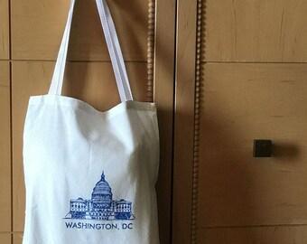 Bulk Order of 50.  Washington DC Tote Bag ***Free US Shipping