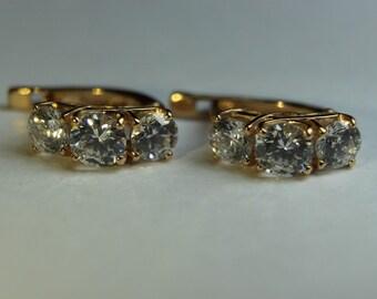 14K 585 GOLD Russian earrings