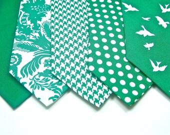 Emerald Neckties Wedding Neckties Custom Neckties Green Neckties Wedding Neckties Custom Neckties