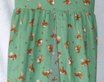Squirrel Nutkin tossed on green Nappy/Diaper stacker